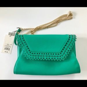 Envelope Clutch Crossbody Bag Green